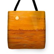 Orange Ocean Tote Bag