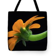 Orange On Black Tote Bag