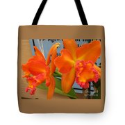 Orange Orchid Tote Bag