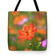 Orange Painted Landscape Tote Bag