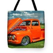 Orange Pick Up At The Car Show Tote Bag