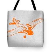Orange Plane 2 Tote Bag by Naxart Studio