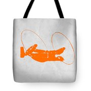 Orange Plane Tote Bag by Naxart Studio