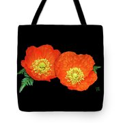 Orange Poppy Collage Cutout Tote Bag