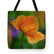 Orange Poppy Flower Tote Bag