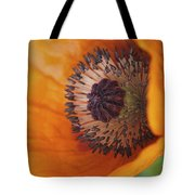 Orange Poppy With Texture Tote Bag