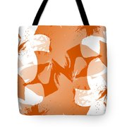 Orange Poster Lilies Tote Bag