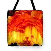 Orange Ranunculus Polar Coordinate Tote Bag