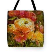 Orange Ranunculus Tote Bag
