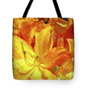 Orange Rhodies Flowers Art Rhododendron Baslee Troutman Tote Bag
