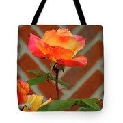 Orange Rose And Bricks Tote Bag