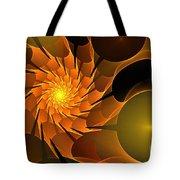 Orange Rose Blossom Tote Bag