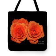 Orange Roses With Hot Wax Effects Tote Bag