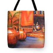 Orange Scarf Tote Bag
