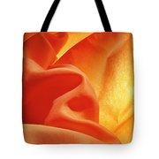 Orange Silk Tote Bag