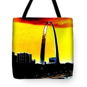 Orange Skies And The Arch Tote Bag