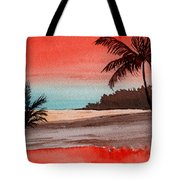 Orange Sky Of Kauai Tote Bag