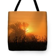 Orange Sky Rising Tote Bag