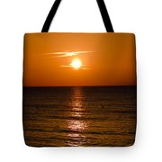 Orange Sunrise Over A Florida Beach Tote Bag