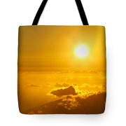 Orange Sunset - Haleakala Tote Bag