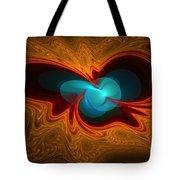 Orange Swirl With Blue Tote Bag