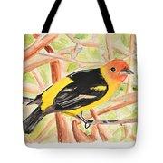 Orange Tanager Tote Bag