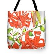 Orange Tiger Lilies Tote Bag