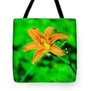 Orange Tiger Lily Tote Bag