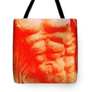Orange Torso Tote Bag