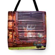 Orange Train Car Tote Bag