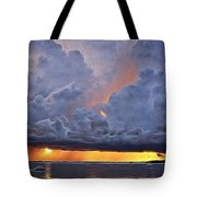 Orange Trouble Tote Bag