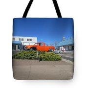 Orange Truck Tote Bag