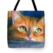 Orange Tubby Cat Painting Tote Bag by Svetlana Novikova