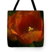 Orange Tulip Art Tote Bag