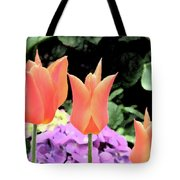Orange Tulip Painting  Tote Bag