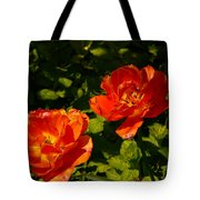 Orange Tulips In My Garden Tote Bag