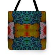 Orange Turquoise Floral Gem Tote Bag