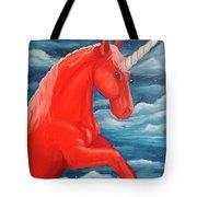 Orange Unicorn Tote Bag