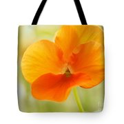 Orange Viola On A Brilliant Spring Day Tote Bag