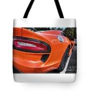 Orange Viper  Tote Bag