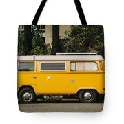 Orange Vw Bus Tote Bag