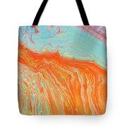 Tangerine Beach Tote Bag