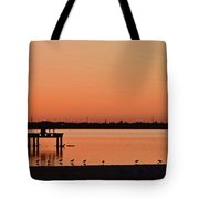 Orange Waters  Tote Bag