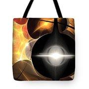 Orange Web Tote Bag