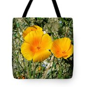 Orange Wildflowers Tote Bag