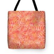 Orange Zebra Print Tote Bag