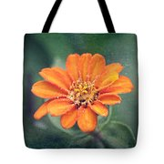 Orange Zinnia Tote Bag