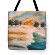 Oranges In The Snow-landscape Painting By V.kelly Tote Bag