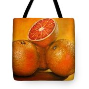 Oranges  Original Oil Painting Tote Bag