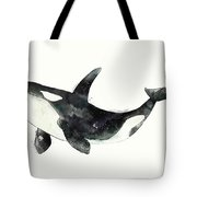 Orca From Arctic And Antarctic Chart Tote Bag by Amy Hamilton